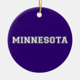 Minnesota Rond Keramisch Ornament