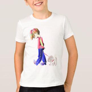 Minnie-me! Jongen die het Art. van de Hond lopen T Shirt