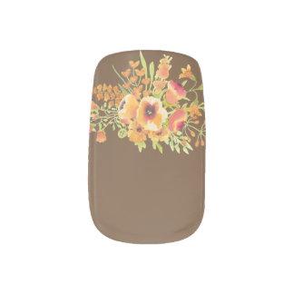 Minx van bloemen de Kunst van de Spijker, Enig Minx Nail Art