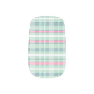 Minx van de Plaid van de watermeloen Spijkers Minx Nail Art