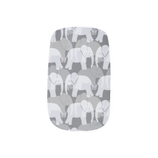 Minx van het Patroon van de olifant Spijkers - Minx Nail Folie