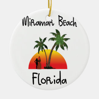 Miramar Strand Florida Rond Keramisch Ornament