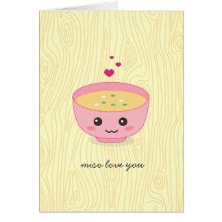 Miso de Liefde die u hebt gekaard Briefkaarten 0