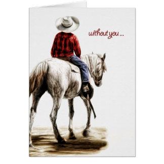 Missend u het Eenzame Westerne Thema van de Cowboy Briefkaarten 0