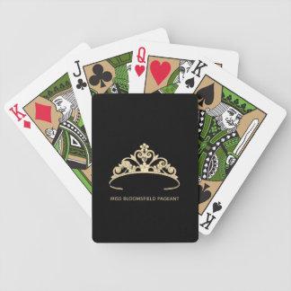 Misser America Gold Tiara Custom Speelkaarten Pak Kaarten