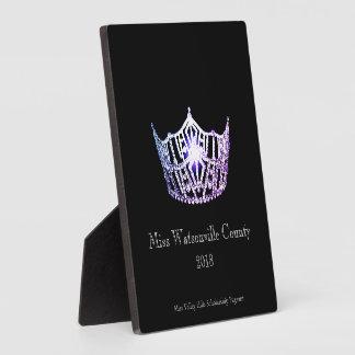 Misser America Lilac Crown Titleholder Plaque Fotoplaat