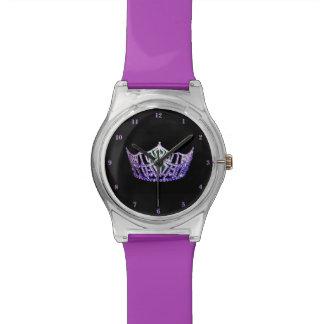 Misser America Purple Crown mag 28ste Horloge