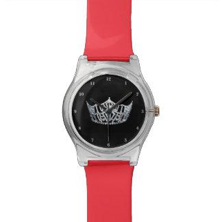 Misser America Silver Crown Clear mag 28ste Horloge