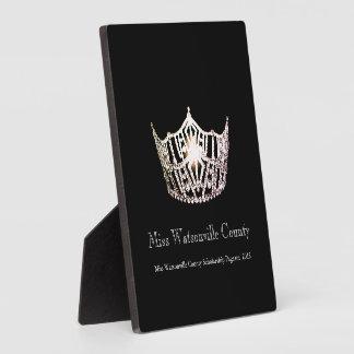 Misser America Silver Crown Titleholder Plaque Fotoplaat