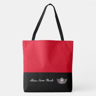 Misser America Silver Crown Tote zak-Groot Rood Draagtas