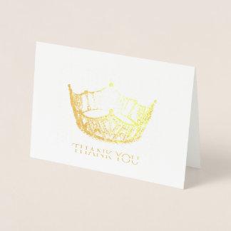 Misser America Style Gold Foil Kroon dankt u Folie Kaarten
