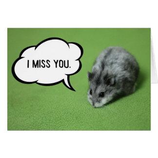 Misser You Funny Hamster Wenskaart