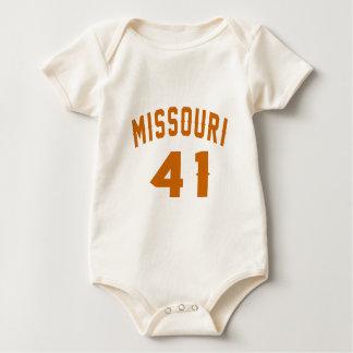 Missouri 41 Design van de Verjaardag Baby Shirt