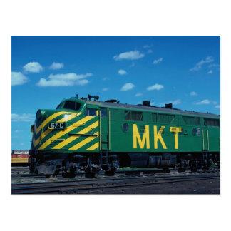 Missouri-Kansas-Texas Spoorweg EMD F-3a Geen 67C, Briefkaart