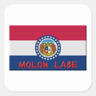 Missouri Molon Labe Vierkante Sticker