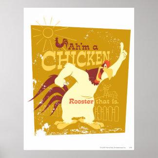 Misthoorn Ah'm een kip Poster