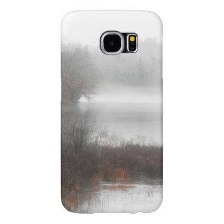 Mistig Meer op een Dag van de Winter Samsung Galaxy S6 Hoesje