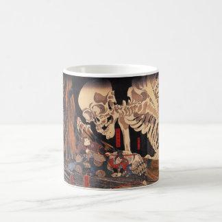 Mitsukuni die het Spook van het Skelet tarten Koffiemok
