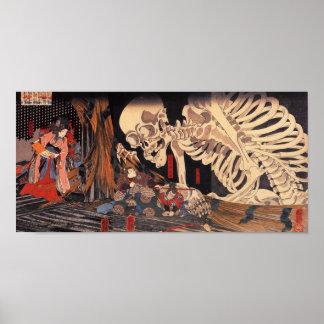 Mitsukuni die het Spook van het Skelet tarten Poster