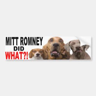 MITT ROMNEY DEED WAT?! Hond op de STICKER van de