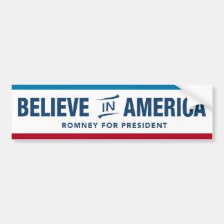Mitt Romney gelooft in de Sticker van de Bumper va