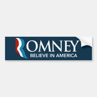 Mitt Romney gelooft in het Blauw van de Sticker va