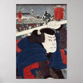 Miyamotomusashi van Mukōjima Poster