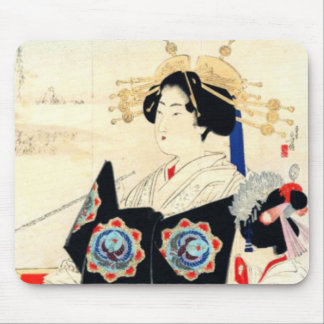 Mizuno Toshikata 水野年方, Courtisane - Aziatisch Art. Muismatten