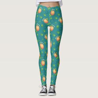 Mmmm-perzik-munt beenschilden leggings