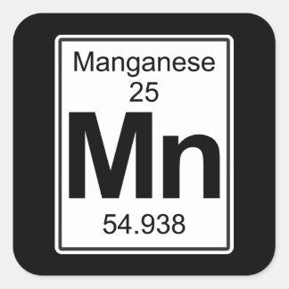 Mn - Mangaan Vierkante Sticker