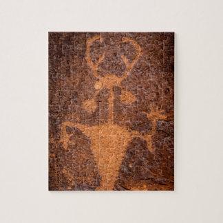 Moab het Portret van de Rotstekening van het Man - Foto Puzzels