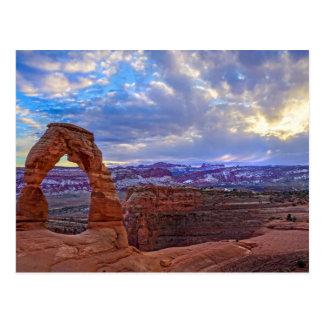 Moab Utah - Gevoelige boog - Briefkaart