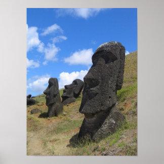 Moai op het Eiland van Pasen Poster