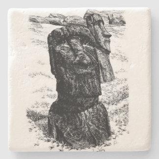 Moai van het Eiland van Pasen Stenen Onderzetter