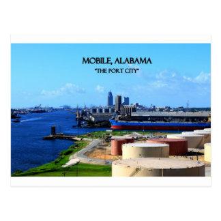 MOBIEL, ALABAMA - de Stad van de Haven Briefkaart