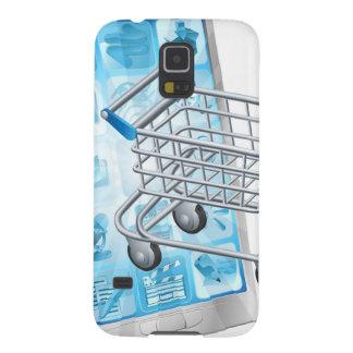Mobiel het winkelen app concept galaxy s5 beschermhoezen