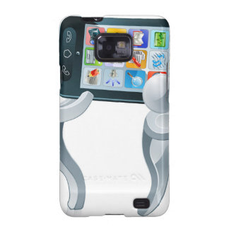 Mobiele telefoon zilveren mensen samsung galaxy s2 hoesjes