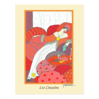 Mode Les Coussins van het Art deco van Lepape de Briefkaart