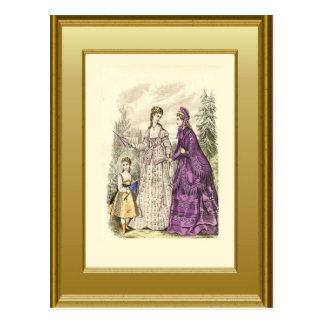 Mode van Victoriaans era 1 Briefkaart