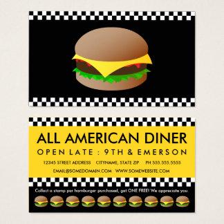 model hamburgersponskaart visitekaartjes