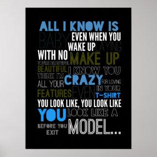 Model Lyrisch Poster