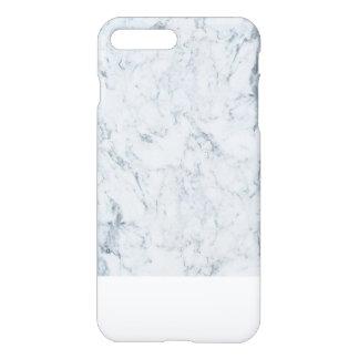 Modern blauw wit trendy marmeren textuurpatroon iPhone 7 plus hoesje