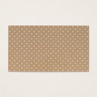 Modern eenvoudig bruin ambachtdocument visitekaartjes