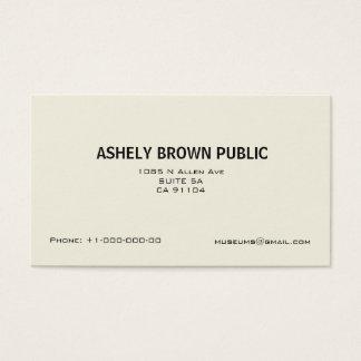 Modern Eenvoudig Wit Minimalistisch Visitekaartje Visitekaartjes