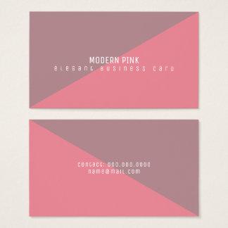 modern en geometrisch minimaal roze visitekaartjes