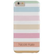 modern fijn pastelkleurmonogram barely there iPhone 6 plus hoesje