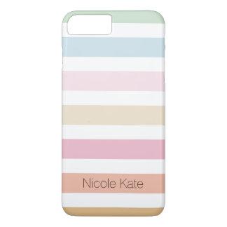 modern fijn pastelkleurmonogram iPhone 7 plus hoesje