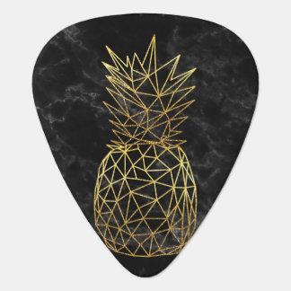 Modern geometrisch gouden ananassenontwerp gitaar plectrum 0