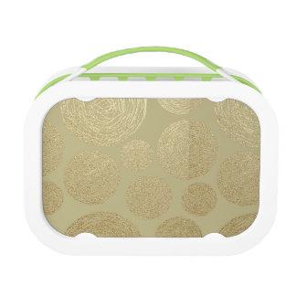 modern, gouden, elegante stippen, metaal, elegant, lunchbox