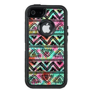 Modern Kleurrijk Geometrisch StammenPatroon OtterBox Defender iPhone Hoesje